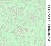 seamless pattern lilies on a ... | Shutterstock .eps vector #368077556