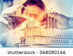 scientist with equipment and... | Shutterstock . vector #368080166