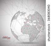 communication world map vector... | Shutterstock .eps vector #368083040