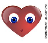 valentines day emoticon with... | Shutterstock .eps vector #368084990