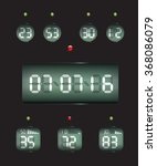 countdown timer date and clock | Shutterstock .eps vector #368086079