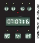 countdown timer date and clock | Shutterstock . vector #368087000