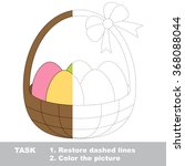 basket with eggs to be colored. ... | Shutterstock .eps vector #368088044