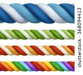 multicolored ropes  vector... | Shutterstock .eps vector #368094413