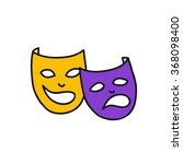 doodle icon. theatrical masks.... | Shutterstock .eps vector #368098400