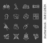 Sixteen Flat Game Icons