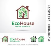 eco house logo template design... | Shutterstock .eps vector #368115794