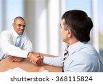 handshake. | Shutterstock . vector #368115824