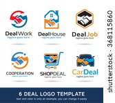 deal logo template design vector | Shutterstock .eps vector #368115860