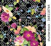 vintage floral background  ... | Shutterstock .eps vector #368118764