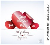 valentine's day abstract... | Shutterstock .eps vector #368122160