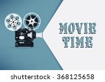 lovely movie time concept... | Shutterstock .eps vector #368125658