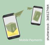 mobile money transfer flat... | Shutterstock .eps vector #368127464