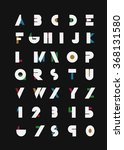 color alphabetic fonts and... | Shutterstock .eps vector #368131580