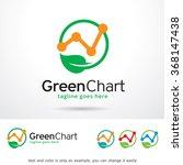 green chart logo template... | Shutterstock .eps vector #368147438