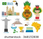 brazil flat icon set travel and ... | Shutterstock .eps vector #368152838