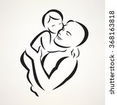 father and baby isolated vector ... | Shutterstock .eps vector #368163818