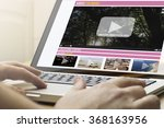 online streaming concept  man... | Shutterstock . vector #368163956