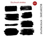 the collection of dry brush ... | Shutterstock .eps vector #368168258