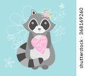 illustration of a cute raccoon... | Shutterstock . vector #368169260