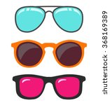 glasses set.vector | Shutterstock .eps vector #368169389