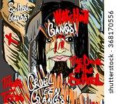 portrayal of a evil cruel... | Shutterstock . vector #368170556