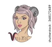 vector zodiac signs. woman... | Shutterstock .eps vector #368172689