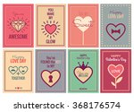 happy valentines day or wedding ... | Shutterstock .eps vector #368176574