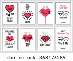 happy valentines day or wedding ... | Shutterstock .eps vector #368176589