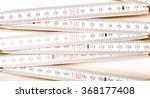 wooden carpenter ruler for... | Shutterstock . vector #368177408