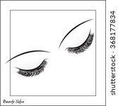 vector eye with make up and... | Shutterstock .eps vector #368177834
