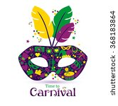 bright vector carnival icons... | Shutterstock .eps vector #368183864