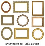 gold picture frame with a... | Shutterstock . vector #36818485