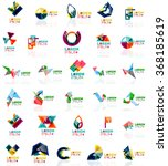 collection of colorful abstract ... | Shutterstock .eps vector #368185619