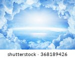 light from heaven  blue planet... | Shutterstock . vector #368189426