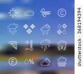 vector white outline weather... | Shutterstock .eps vector #368194394