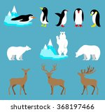 vector set arctic and antarctic ... | Shutterstock .eps vector #368197466