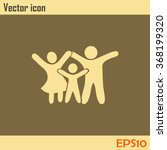 happy family icon in simple... | Shutterstock .eps vector #368199320