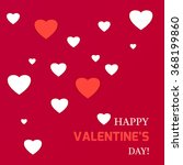 happy valentine's day card... | Shutterstock .eps vector #368199860