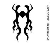 tribal tattoo vector design... | Shutterstock .eps vector #368201294