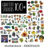 graffiti stickers set. fashion... | Shutterstock .eps vector #368201624