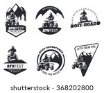 set of atv logo  emblems ...