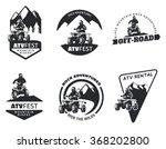 Set Of Atv Emblems  Badges And...