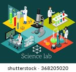 science lab isometric design... | Shutterstock .eps vector #368205020