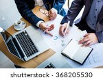 business team hands at working... | Shutterstock . vector #368205530
