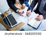 business team hands at working... | Shutterstock . vector #368205530
