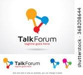 talk forum logo template design ... | Shutterstock .eps vector #368208644