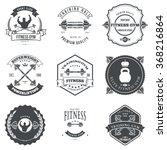 set of fitness and bodybuilding ... | Shutterstock . vector #368216864