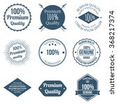 set of premium quality badges... | Shutterstock . vector #368217374