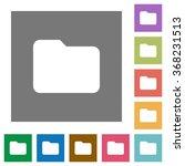 folder flat icon set on color...